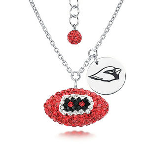 Licensed NFL Arizona Cardinals Football Necklace